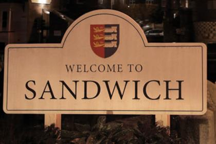 Sandwich, Kent: centre of Walkers promo work