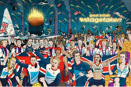 Metro: ran Adidas coverwraps during the London Olympics