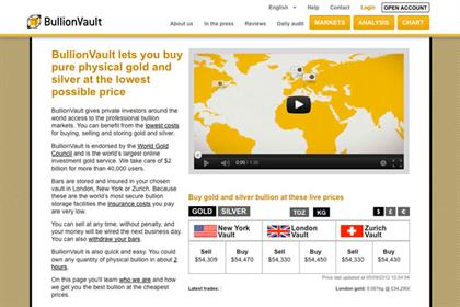 BullionVault: seeks agencies amid ramp-up in advertising