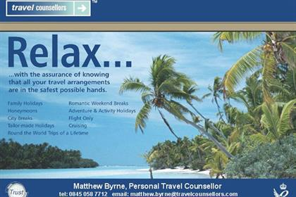 Travel Counsellors: preparing an advertising push