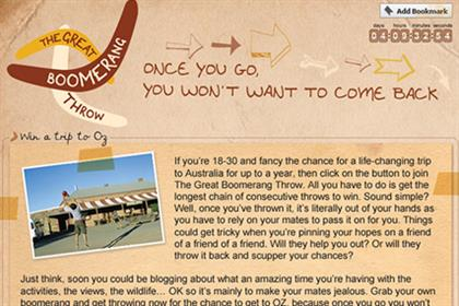 Tourism Australia: launches Facebook 'boomerang' app
