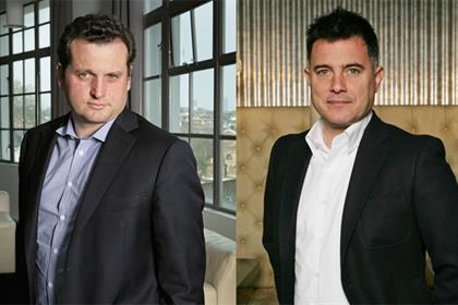 Richard Exon (l) and Damon Collins: 'We have a clear vision for a creative business that we want to start together'