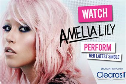Amelia Lily: stars in MSN/Clearasil campaign