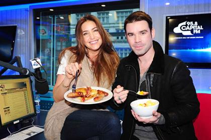 Lisa Snowdon and Dave Berry: take the Breakfast Show of the Year award