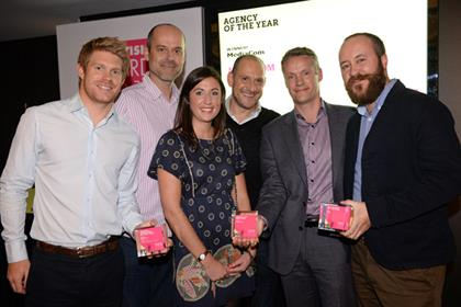 PPA Advertising Awards 2013: The team from Mediacom celebrating its agency of the year win