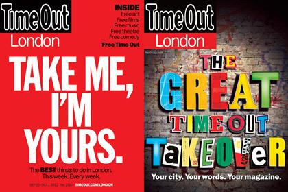 Time Out: the listings title's first and most recent covers since its 2012 relaunch