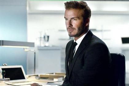 David Beckham: promotes the Sky Sports 5 European football channel