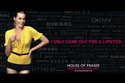 House of Fraser: seeks agency ahead of a major new campaign