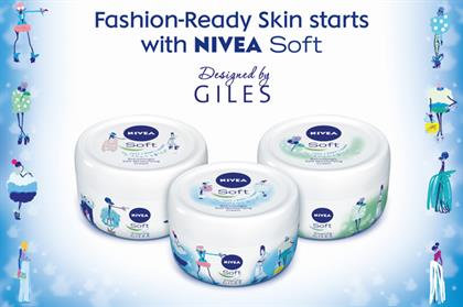 Nivea has tied up with Giles Deacon for limited edition designs