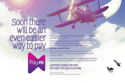 Paym: ad appears in today's Metro