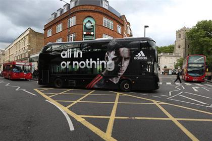 Addidas: Routemaster buses promote sportswear brand's World Cup campaign