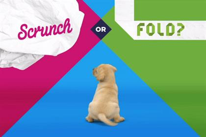 Andrex: JWT created the 'scrunch or fold' campaign for the Kimberly Clark brand