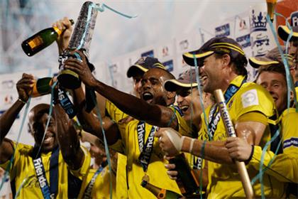 Champions: The Hampshire Royals won the Friends Life T20 in 2012