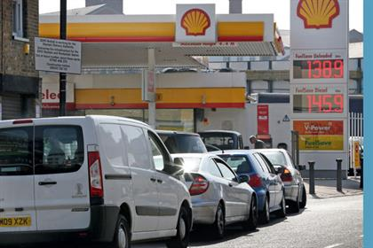 Panic: a scene mirrored across the UK as drivers queue for petrol (Getty Images)