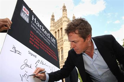 Hugh Grant: A leading figure in Hacked Off (Credit: Getty Images)