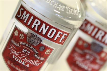 Diageo brand: Smirnoff vodka