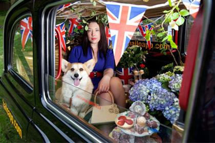 Blooming: Hailo jubilee stunt (Credit: David Parry)