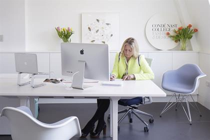 Susie Forbes: Condé Nast College of Fashion & Design principal in her office
