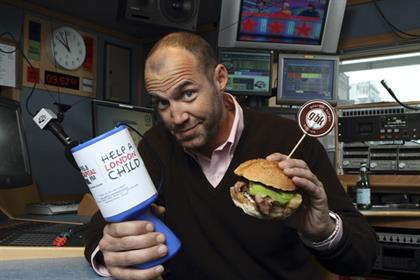 Capital Radio: presenter Johnny Vaughan