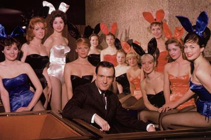 Hugh Hefner: with his Chicago-based bunnies in 1960