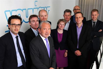 YouView: Lord Sugar (third from left) with the joint partners in the venture