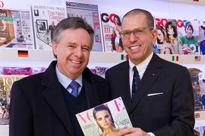 Eduardo Medina-Mora Icaza, the Mexican ambassador to London, with Jonathan Newhouse, international chairman of Conde Nast, at the launch of Conde Nast Worldwide News