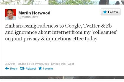 Martin Horwood: hits back on Twitter