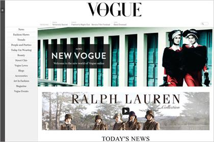 Vogue: revamps website