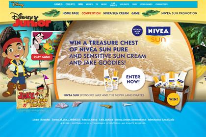 Nivea Sun: sponsors Disney kids' show
