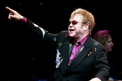 Elton John: helps Magic leapfrog Capital to London's top spot