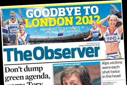 The Observer: increases cover price to 2.50