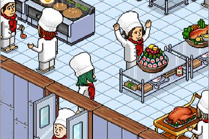 Habbo: social network's kitchen theme