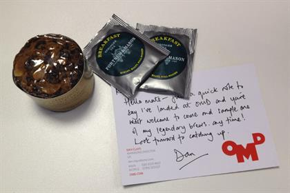 Tea and cake: courtesy of OMD's new MD Dan Clays