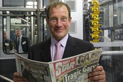 Richard Desmond: launches 100m print plant in Luton.