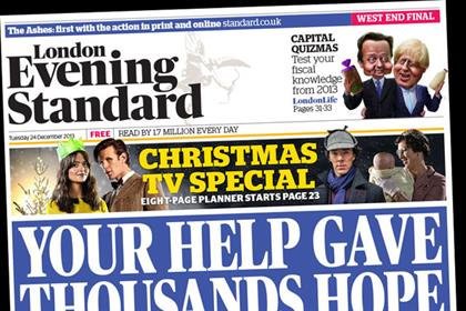 London Evening Standard: kicks off circulation push