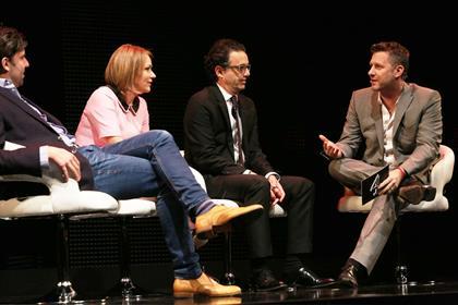 Channel 4 management team: (from left Jonathan Allan, Jay Hunt, David Abraham and Adam Hills)