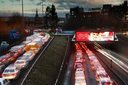 CityScreen Newcastle Central: spans the Bridge Street underpass