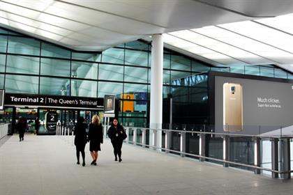 Heathrow T2: terminal offers traditional and digital media opportunities for advertisers