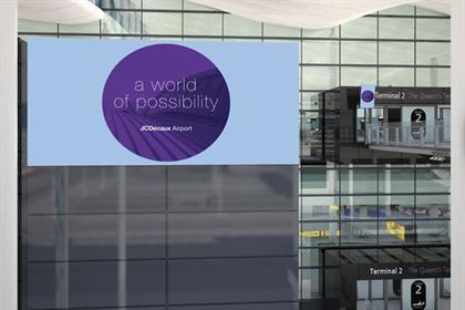 JCDecaux: offers a range of advertising possibilities at Heathrow's Terminal 2