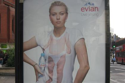Evian: double-faulted with its Wimbledon sponsorship poster