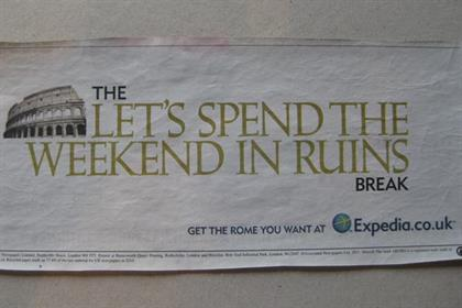 Expedia: avoids the usual the travel ad clichés