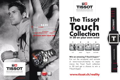 Tissot: augmented reality ads allow readers to interact