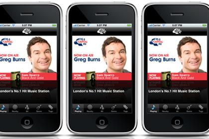 Capital Radio: mobile phone app
