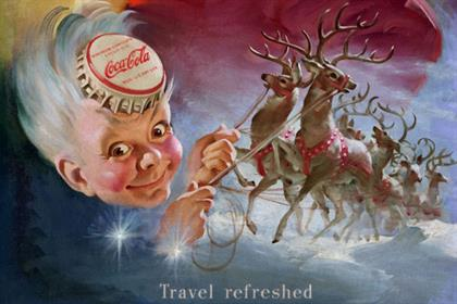Sprite Boy in the 1949 'Travel refreshed' ad