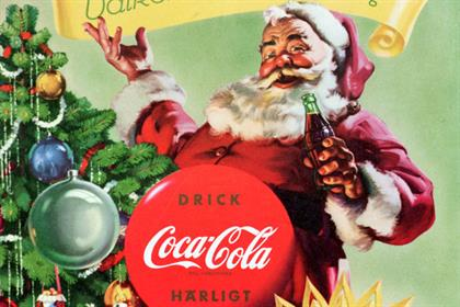 A 1955 Coca-Cola Santa Claus display from Sweden