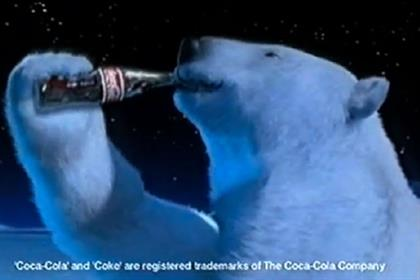 Coca-Cola Polar Bear ad from the noughties