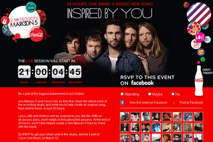 Coca-Cola: enlists Maroon 5 for online song challenge