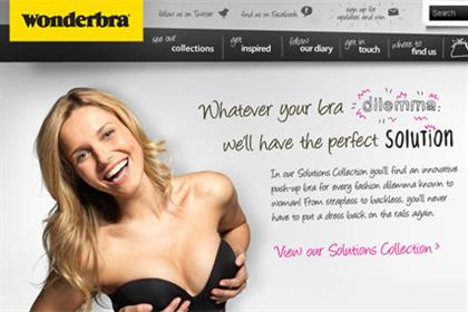 Wonderbra: integrates website with customers' social media activity