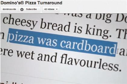 Domino's Pizza: monitors social media