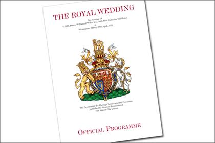Royal Wedding: official programme for the event is available to view online